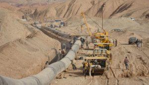 عملیات جا به جایی لوله انتقال نفت مارون