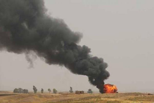 انفجار منطقه نفتی چشمه خوش