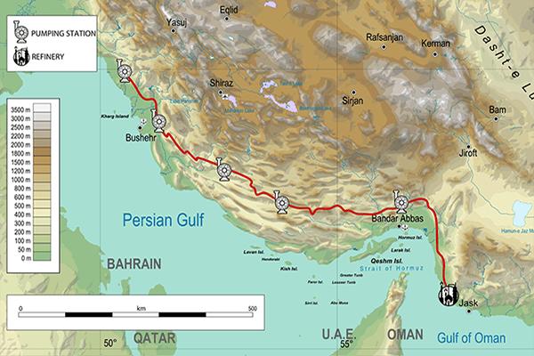 راه اندازی خط لوله نفت منطقه گوره به جاسک
